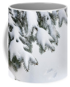 Snow On Winter Branches Coffee Mug by Elena Elisseeva