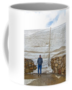 Snow Piles At Alpine Visitor's Center In Rocky Mountain National Park-colorado Coffee Mug