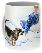 Snow Play Sadie And Andrew Coffee Mug