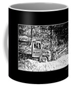 Snow Plow In Black And White Coffee Mug