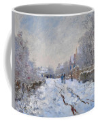 Snow Scene At Argenteuil Coffee Mug