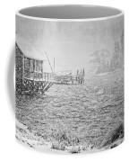 Snow Storm In Bass Harbor On Mount Desert Island Maine Coffee Mug