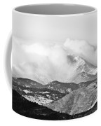 Snow Storm On The Twin Peaks Longs And Meeker Coffee Mug
