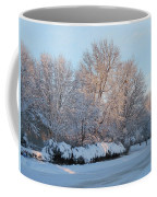 Snow Trees Sunrise 2-2-15 Coffee Mug