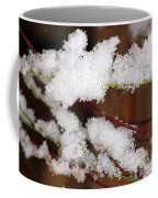Snow Twig Abstract Coffee Mug
