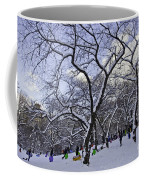 Snowboarders In Central Park Coffee Mug