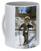 Snowcapped Scarecrow Coffee Mug by Anne Gilbert