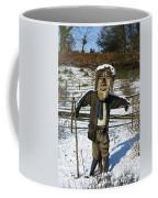 Snowcapped Scarecrow Coffee Mug