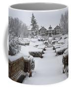 Snowfall At Longview Mansion Coffee Mug