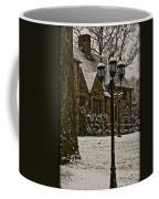 Snowing At Stokesay Castle Coffee Mug