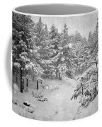 Snowing At The Forest Coffee Mug