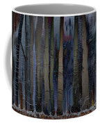 Snowing In The Ice Forest At Night Coffee Mug