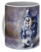 Snowman Peace Photo Art 01 Coffee Mug