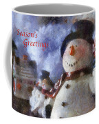 Snowman Season Greetings Photo Art 01 Coffee Mug