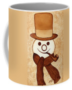 Snowman With Pipe And Topper Original Coffee Painting Coffee Mug