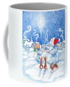 Snowmen And Christmas Star Coffee Mug