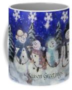 Snowmen Season Greetings Photo Art Coffee Mug