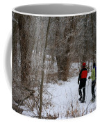 Snowshoeing In The Park Coffee Mug
