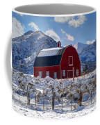 Snowy Barn In The Mountains - Utah Coffee Mug