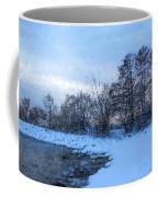 Snowy Beach Impressions Coffee Mug