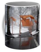 Snowy Day In Central Park Coffee Mug