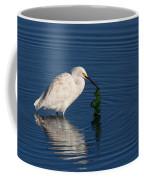 Snowy Egret Catches Sushi And Seaweed Coffee Mug