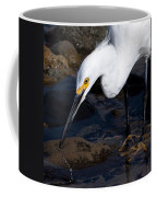 Snowy Egret Dribble Coffee Mug