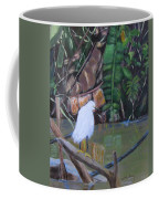 Snowy Egret In Costa Rica Coffee Mug