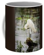 Snowy Egret In Swamp Coffee Mug