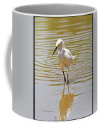 Snowy Egret Looking For Fish Coffee Mug