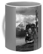 Snowy Engine Through The Rockies Coffee Mug