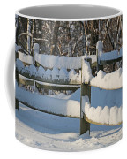 Snowy Fence Coffee Mug