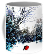 Snowy Forest At Christmas Time Coffee Mug