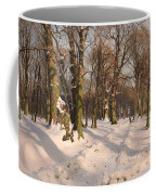 Snowy Forest Road 1908 Coffee Mug