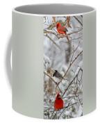 Snowy Grace Cardinals Coffee Mug