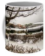 Snowy Landscape At Symphony Park Charlotte North Carolina Coffee Mug