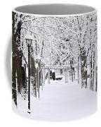 Snowy Lane In Winter Park Coffee Mug