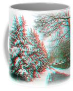 Snowy Lane - Use Red/cyan Filtered 3d Glasses Coffee Mug
