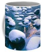 Snowy Merced River With Reflection Coffee Mug