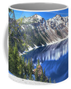 Snowy Mountains Reflected In Crater Lake Coffee Mug