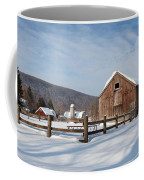 Snowy New England Barns Coffee Mug