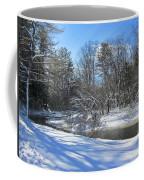 Snowy Otter Brook Coffee Mug