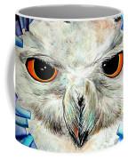 Snowy Owl - Female - Close Up Coffee Mug by Daniel Janda