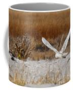 Snowy Owl On The Hunt Coffee Mug