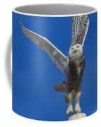Snowy Owl Taking Flight Coffee Mug
