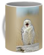 Snowy Owl Yawning Coffee Mug