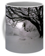 Snowy Path Coffee Mug by Amanda Moore