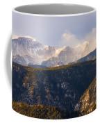Snowy Pikes Peak Coffee Mug