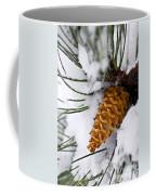 Snowy Pine Cone Coffee Mug