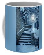 Snowy Stairway Coffee Mug